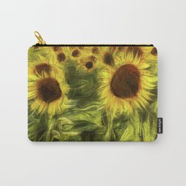 Sunflower Abstract Art Carry-All Pouch