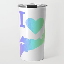 I Love Nova Scotia Pastels - Canada Travel Mug