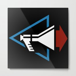 DM : Stripped Logo - Color Metal Print