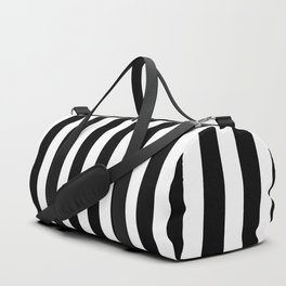 Classic Black and White Football / Soccer Referee Stripes Duffle Bag