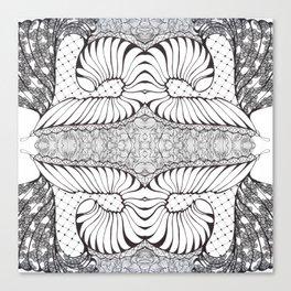 Black and White Zen Doodle Canvas Print