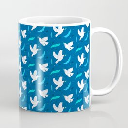 Beautiful White Dove Peace Animal Pattern Gift Coffee Mug