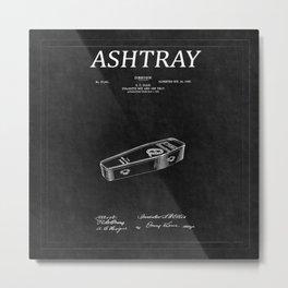 Ashtray Patent 2 Metal Print