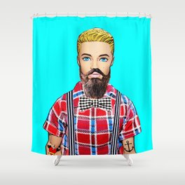 Hipster! Shower Curtain