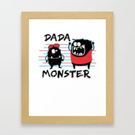 Dada Monster Cute Monster Cartoon for Kids and Dad Light Framed Art Print
