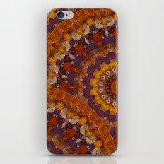 Color Me Autumn Kaleidoscope Mandala  iPhone & iPod Skin