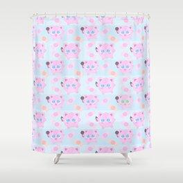 Jigglypuff pattern Shower Curtain