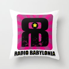 Radio Babylonia Throw Pillow