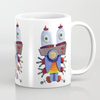 invader zim Mugs featuring Invader 1 by Paul Rively