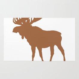 Moose: Brown Rug