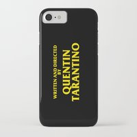 quentin tarantino iPhone & iPod Cases featuring Written And Directed By Quentin Tarantino by FunnyFaceArt