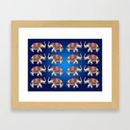 Dancing White Elephants Framed Art Print