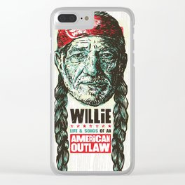 willie nelson tour 2019 2020 hajarlah Clear iPhone Case