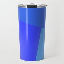 dégradé trapèze bleu roi Travel Mug