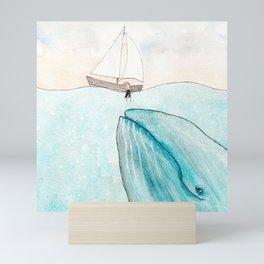 Whale watching Mini Art Print
