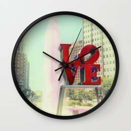 Philly Love Wall Clock