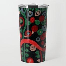 """Gustav Klimt """"Textile design - Model 7"""" Travel Mug"""
