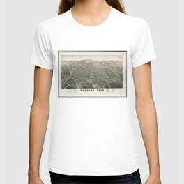 Vintage Pictorial Map of Danbury CT (1884) T-shirt