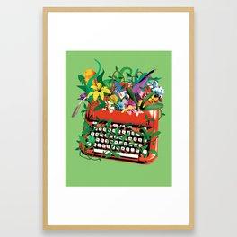 Spring Books Framed Art Print