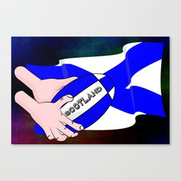 Rugby Scotland Flag Canvas Print