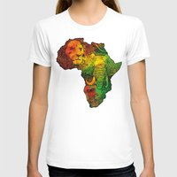 africa T-shirts featuring Africa by RicoMambo