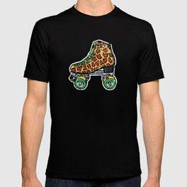 Cyan Leopard print roller skates T-shirt