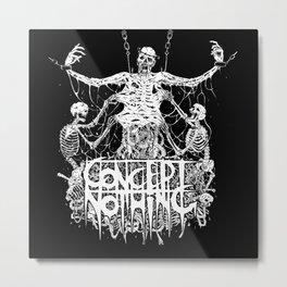 Skeleton Skinning of the Dead Metal Print