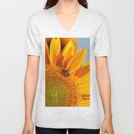 Sunflower & Bee Unisex V-Neck