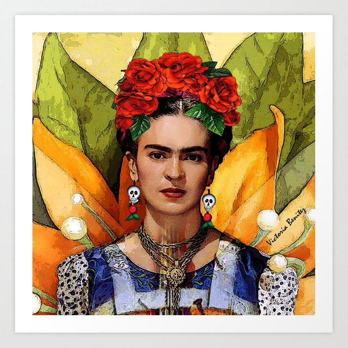 frida kahlo art Introduction frida kahlo de rivera (spanish pronunciation: [ˈfɾiða ˈkalo] born magdalena carmen frida kahlo y calderón july 6, 1907 – july 13, 1954) was a mexican artist who painted many portraits, self-portraits, and works inspired by the nature and artifacts of mexico.