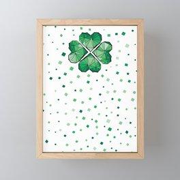 Geometric shamrock Framed Mini Art Print