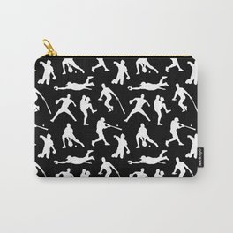 Baseball Players // Black Carry-All Pouch