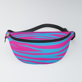 Pink And Blue Animal Stripes Fanny Pack