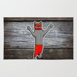 Gato Luchador - Cat Luchadore - Wrestler Kitty Rug