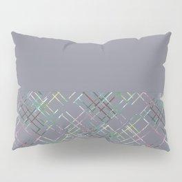 Gray combined pattern. Pillow Sham