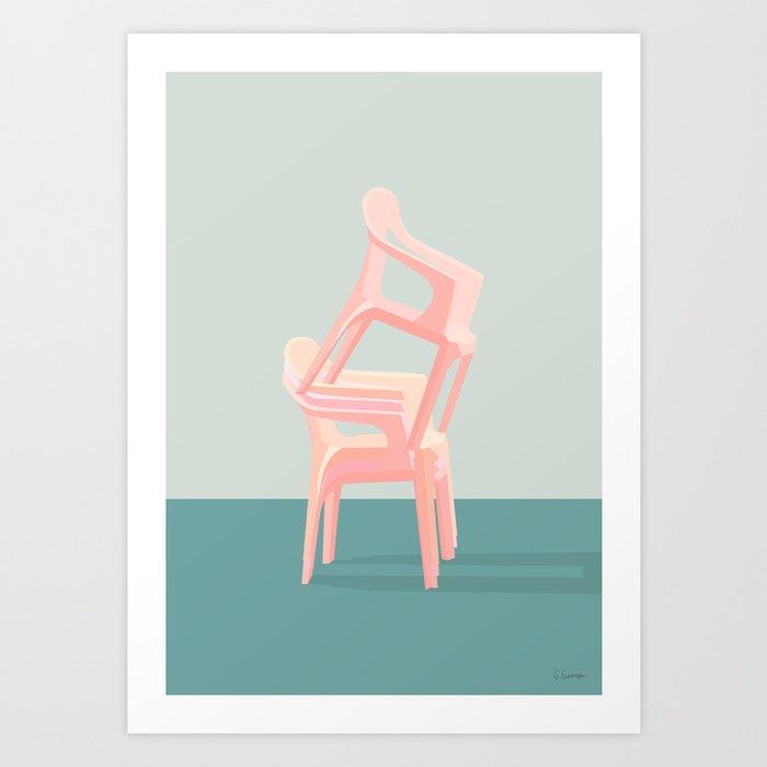 SIDDE HØJT Art Print