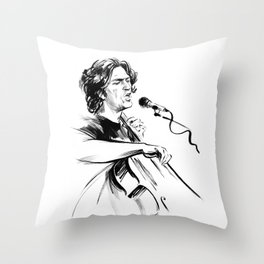 А man who sings and plays the cello Throw Pillow
