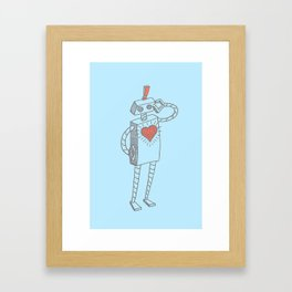 Hopeless Romantic. Framed Art Print