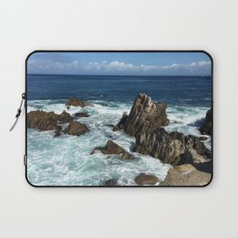 Waves crashing on rocks in Monterey Bay Laptop Sleeve