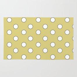 Yellow Pastel Polka Dots Rug