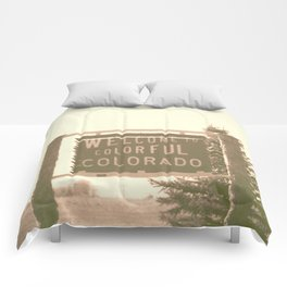 welcome to colorful colorado Comforters