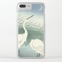 Herons in Shallow Water, Ohara Koson, 1934 Clear iPhone Case