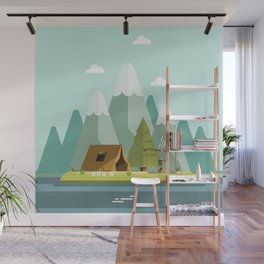 Mountain campfire Wall Mural