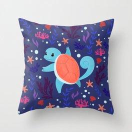 Water Type Throw Pillow