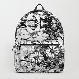 Noir Sunflower Explosion Zoom Backpack