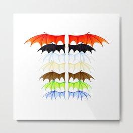 Wings of Fire - Wing Metal Print