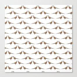 Pheasant Pattern Canvas Print