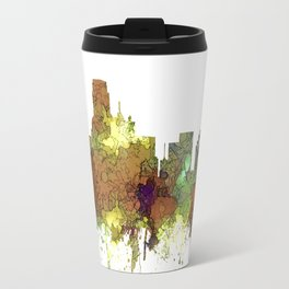 Dallas, Texas Skyline SG - Safari Buff Travel Mug