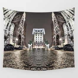 The Vintage Street - A Old Montreal Street Wall Tapestry