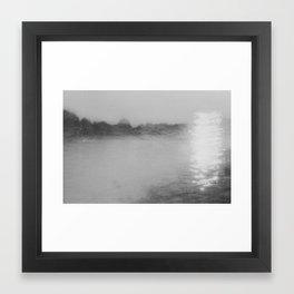 Black & White Double Exposure  Framed Art Print