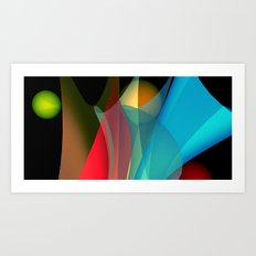floating colors -b- Art Print